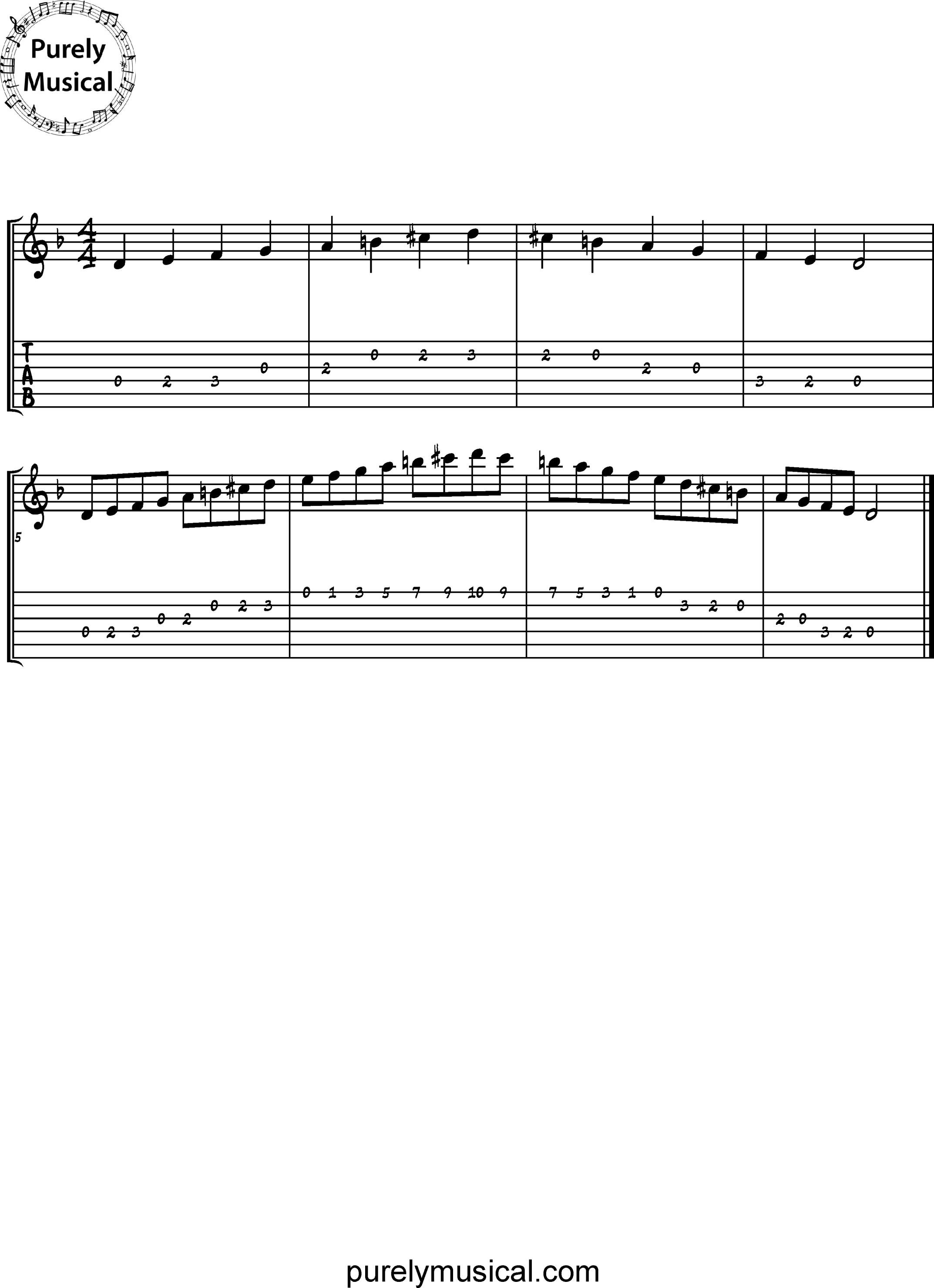 Beginner  Scale D Melodic Minor