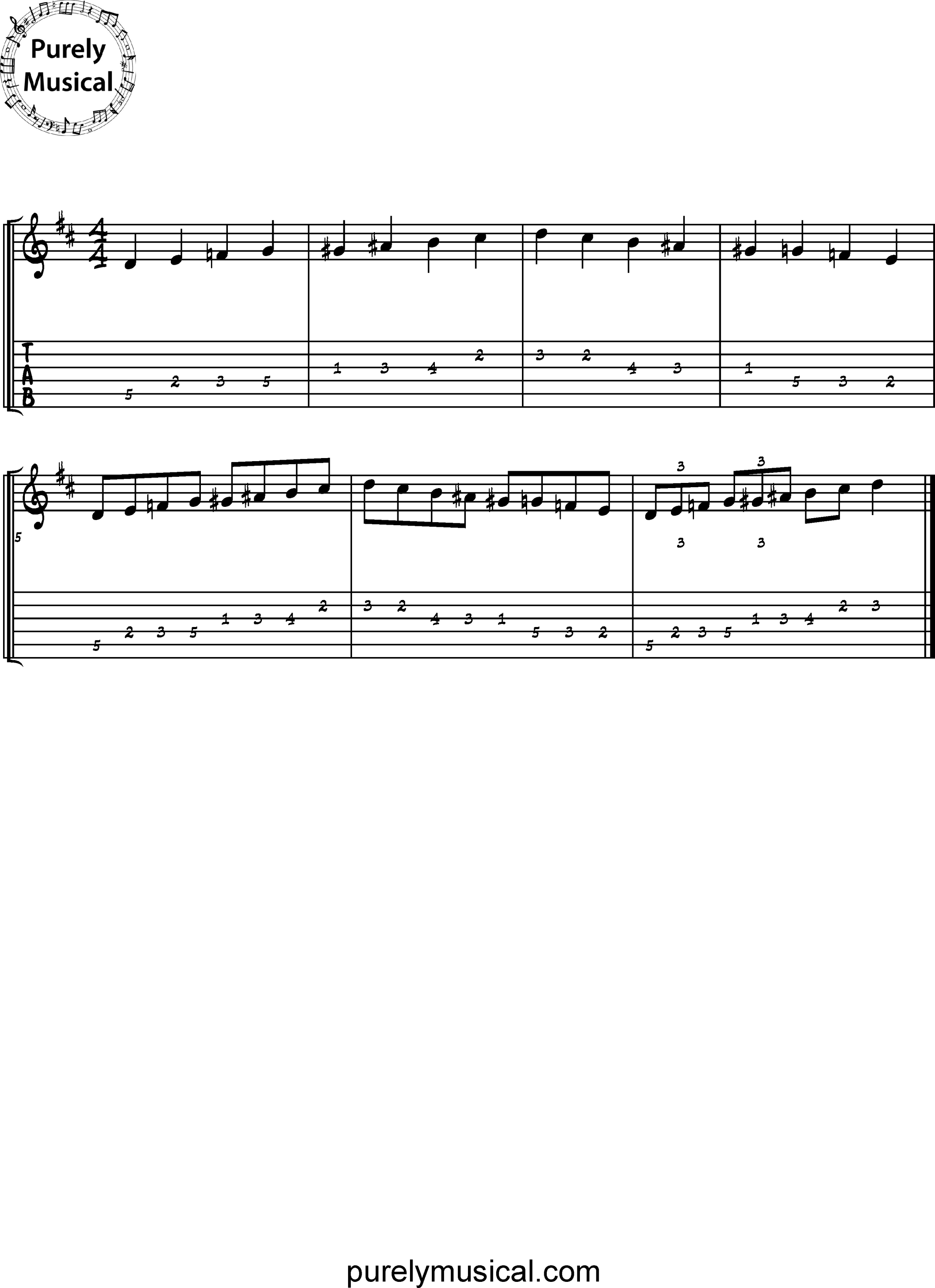 Beginner  Scale D Diminished
