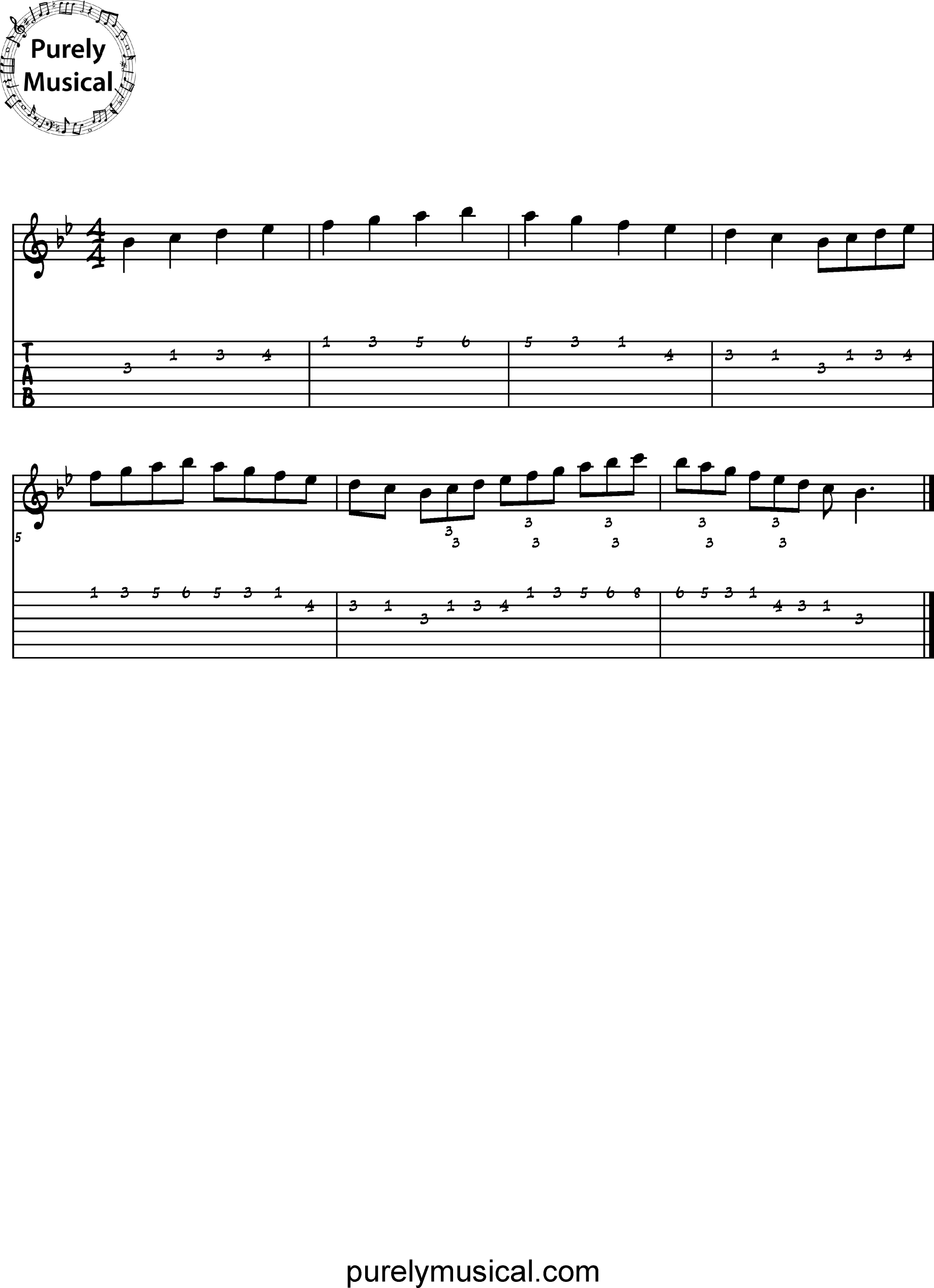 Intermediate  Scale Bb Major Scale