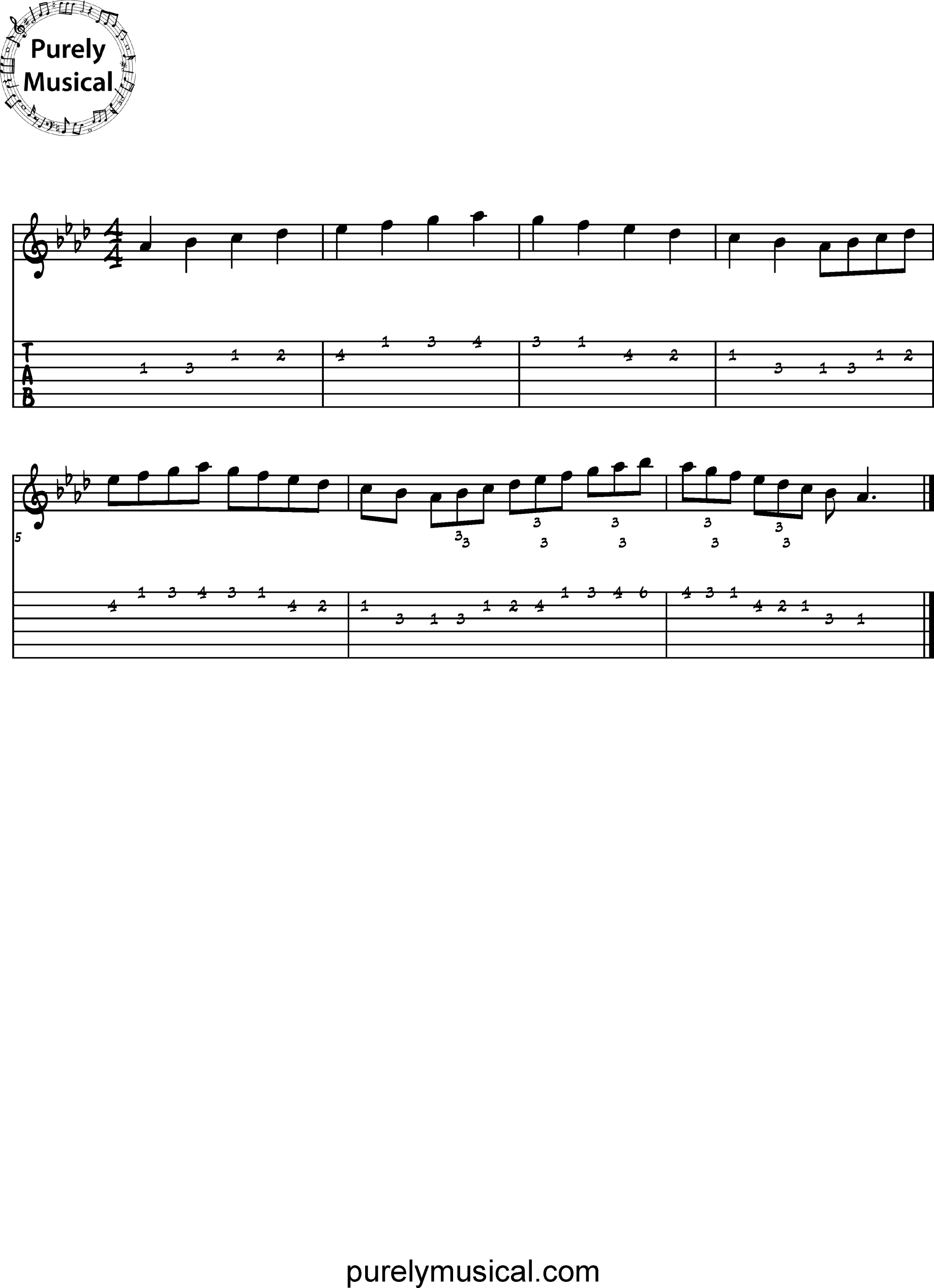 Intermediate  Scale Ab Major Scale