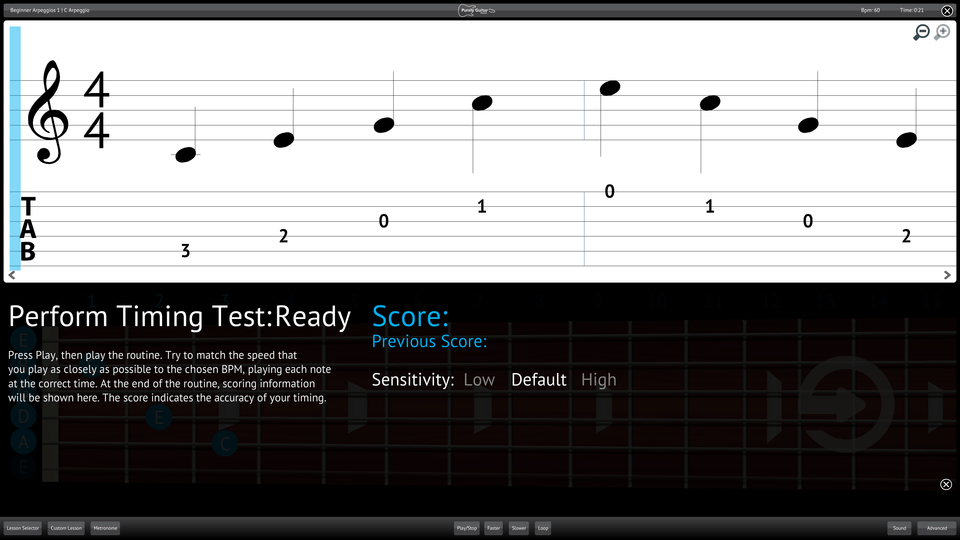 Purely Electric Guitar Screenshot Perform Testing Ability