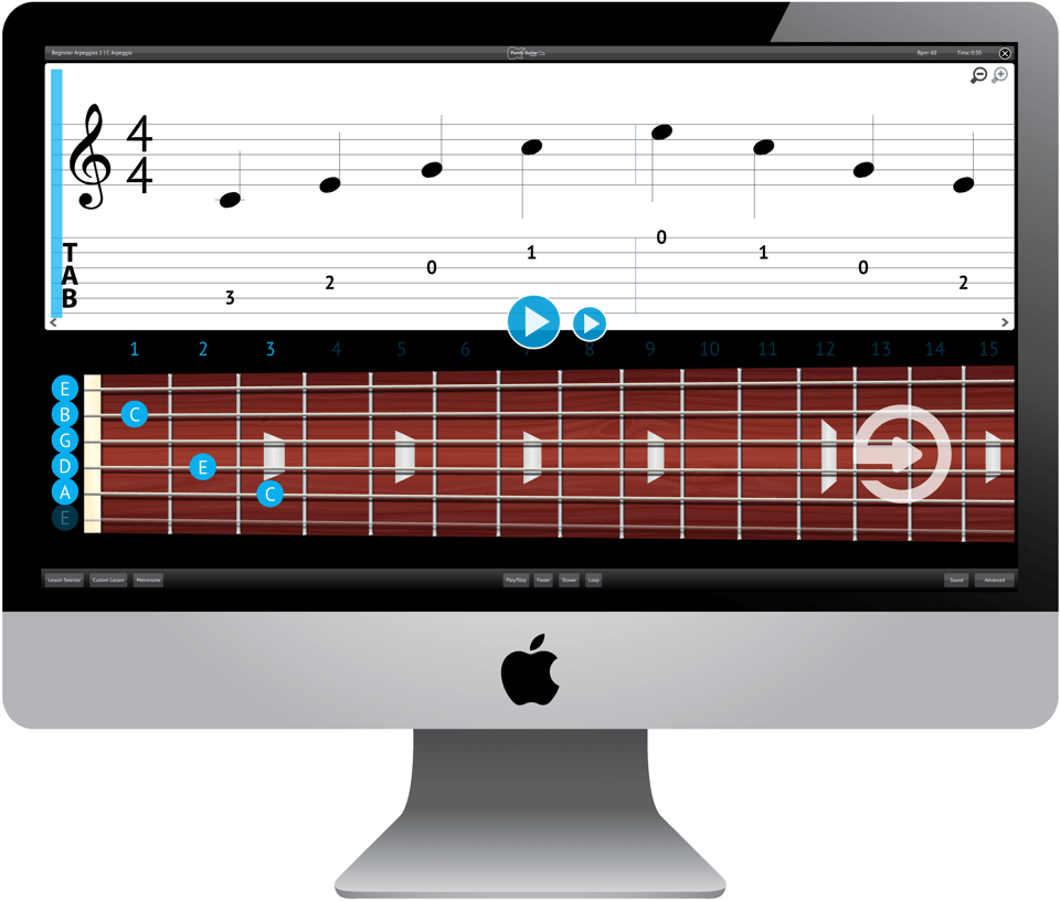 Purely Electric Guitar Software Application